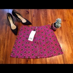 Zara Front Zip Mini Skirt